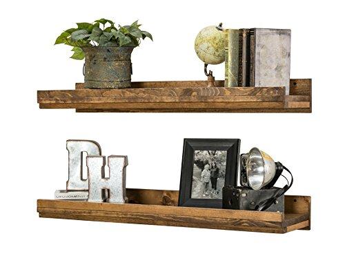 Del Hutson Designs Rustic Luxe Wooden Floating Shelves (Walnut)