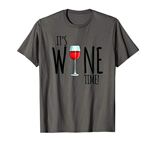 It's Wine Time, Lustiges Wein Geschenk Damen T-Shirt