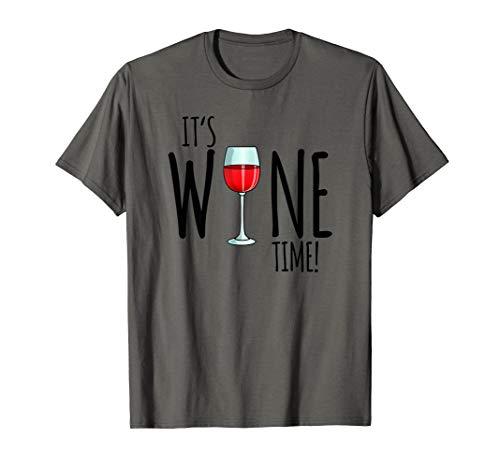 It's Wine Time, Lustiges Wein Geschenk Damen T-Shirt