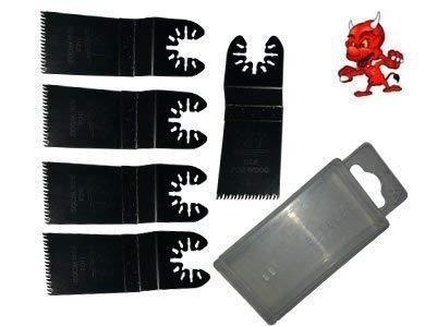 5 Stück 32 mm Japan Sägeblatt Sägeblätter Zubehör Aufsätze für Fein Multimaster FMM350Q mit Box