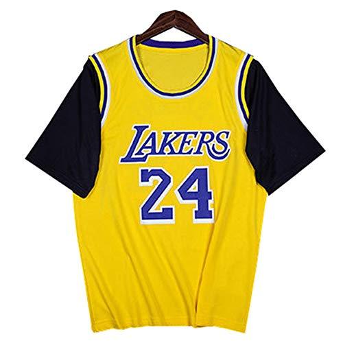 FILWS Basketball Trikot Kobe Bryant Gefälschte Zweiteilige Basketballuniform Kurzärmeliges Herren- Und Damen-T-Shirt Atmungsaktives Stretch Schnelltrocknendes Gewebe Fans Sportswear