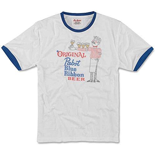 Pabst Blue Ribbon (Pbr) Pabst Blue Ribbon Bier Männer graue Vintage-Ringer T-Shirt