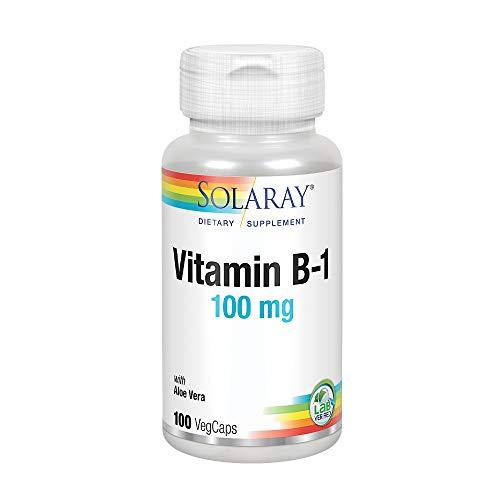 Solaray Vitamin B-1 100 mg   Healthy Energy Metabolism, Skin, Brain, Heart & Nervous System Support   100 VegCaps