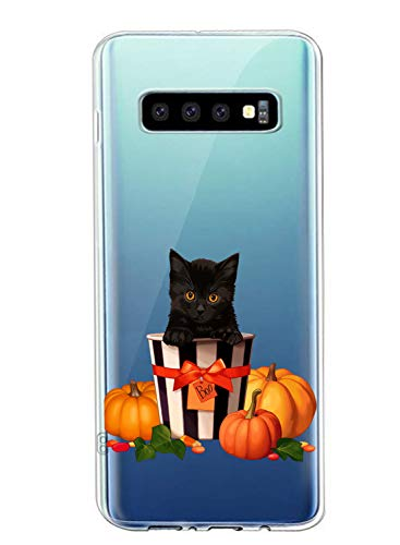 Save %27 Now! Fvntuey Case for Samsung Galaxy J6 Plus Clear Soft Cover Pattern (Halloween Pumpkin He...
