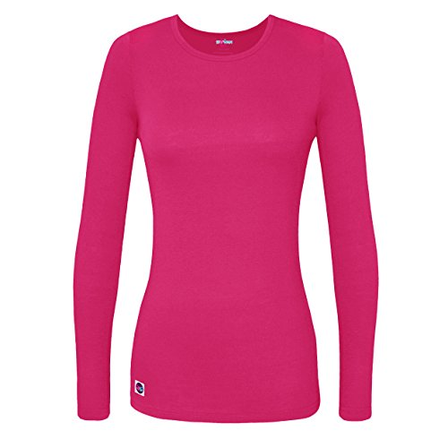 Sivvan Women's Comfort Long Sleeve T-Shirt/Underscrub Tee - S8500 - Fuchsia - XL