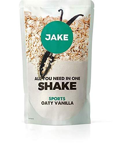 Jake Vainilla Avena Sports 40 Comidas │ Batido en Polvo de Reemplazo de Comidas Vegano, a Base de Plantas, Denso en Nutrientes, Alto en Proteínas