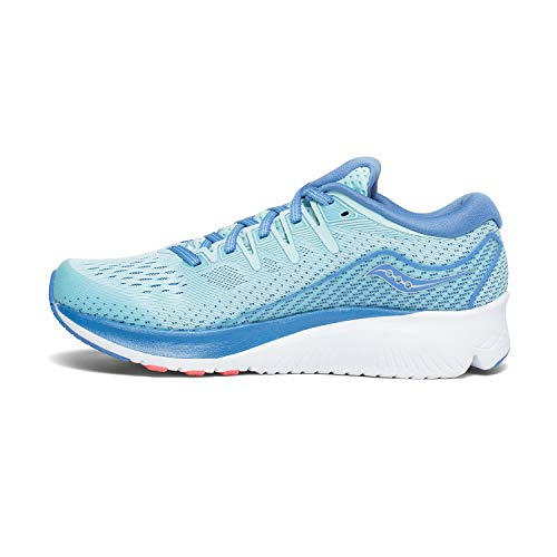 Saucony Women's Ride ISO 2 Running Shoe, Blue/Coral, 10 M US