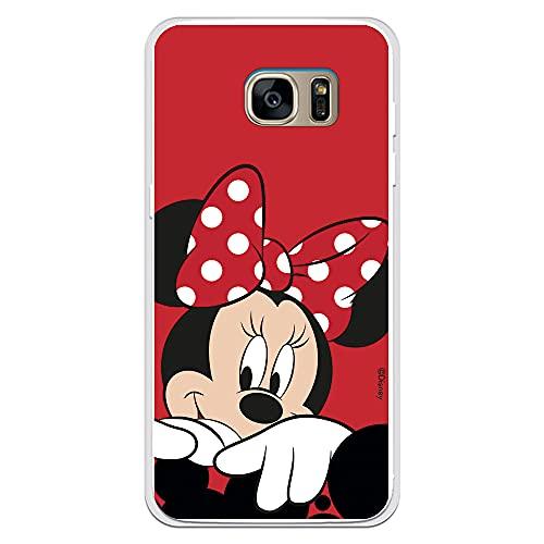 Custodia per Samsung Galaxy S7 Edge Ufficiale Disney Minnie Sfondo rosso per proteggere il tuo cellulare Cover per Samsung in silicone flessibile con licenza ufficiale Disney.