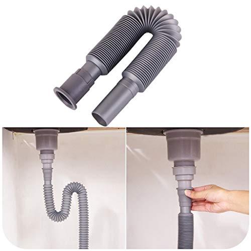 Moent Werkzeuge & Heimwerkerbecken Deodorant Einziehbares Fallrohr Kunststoff-Wellrohr Unterflur-Abflusskanalschlauch