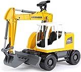 Lena 4611 Worxx Liebherr A918 Compact Litronic, circa 48 cm, costruzione giocattolo veicolo per bambini dai 3 anni di età, robusto braccio escavatore funzionale e scudo spinta