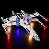 Elroy369Lion Juego de luces LED 4CH RC para LEGO Star Wars Luke Skywalker X-Wing Fighter 75301 (sin modelo Lego)