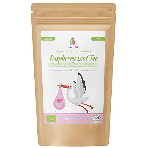 JoviTea Frambozenbladthee Bio Thee, 80 g - Kruidenthee - Voorbereiding op Geboorte - Zwangerschapsthee - 100% Natuurlijk en zonder Toegevoegde Suikers – Biologische Teelt - Framboosblad - 80 g