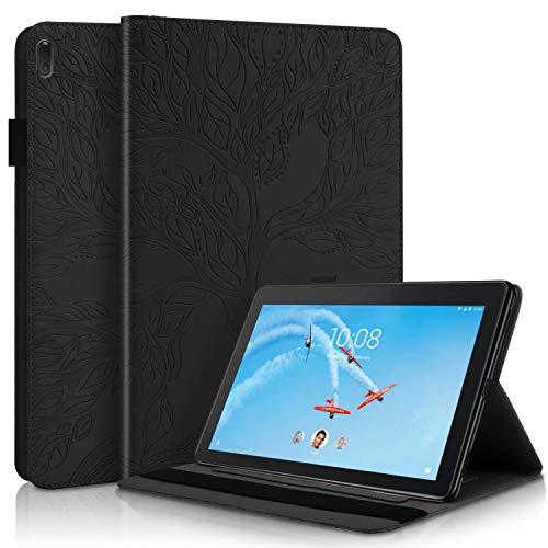 TTNAO Funda para Samsung Galaxy Tab S6 Lite 10.4 Inch Cuero PU Premium Carcasa Activación/suspensión automática Ranuras Diseño,Anti-rasguños Case, Arbol de la Vida Negro