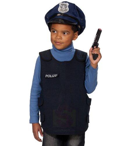 Rubies Kinderkostüm - Polizei Weste Gr. 116/128