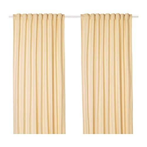 Ikea Tibast Vorhänge 1 Paar gelb 303.967.35 Größe 57x98