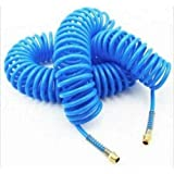50 Foot Blue Recoil Coiled Air Hose Snap Back Coil Return