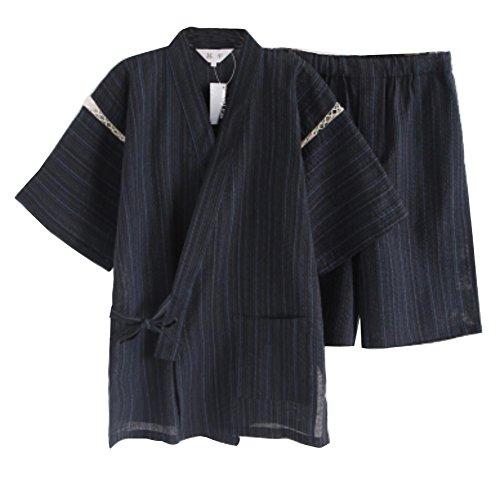 Traje de Pijama Kimono de Estilo japonés para Hombres [C]