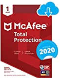 McAfee Total Protection 2020 | 1 Gert | 1 Jahr | PC/Mac/Smartphone/Tablet | Download Code