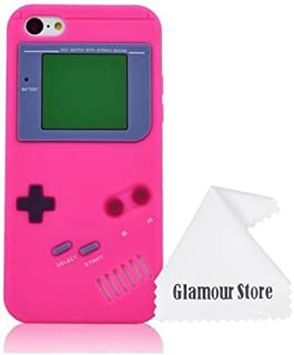 iPhone 6 Case,Retro 3D Game Boy Gameboy Design Style Soft Silicone Cover Case For New Apple iPhone 6 6G 4.7 inch,Not Fit For Apple iPhone 6 Plus 5.5 inch+ Free Cleaning Cloth As a gift (Hot Pink)
