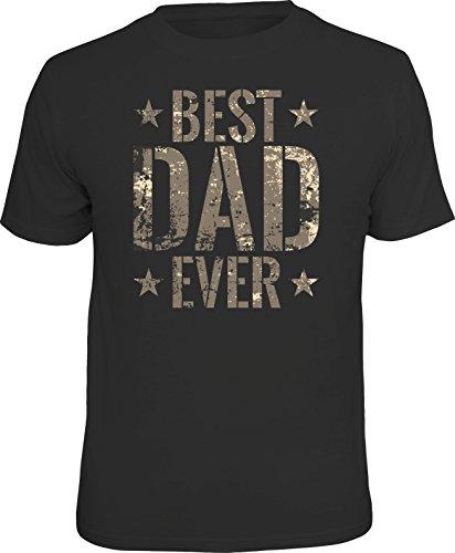Geschenk T-Shirt zum Vatertag: Best Dad Ever im Camouflage Look