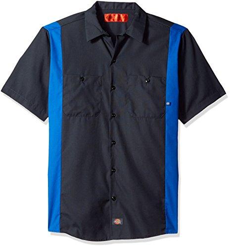 1 Black//English Red L Tall Dickies Occupational Workwear Ll524bker Polyester//Coton pour homme Manches longues industriel Bloc de couleur Chemise Noir//English Rouge