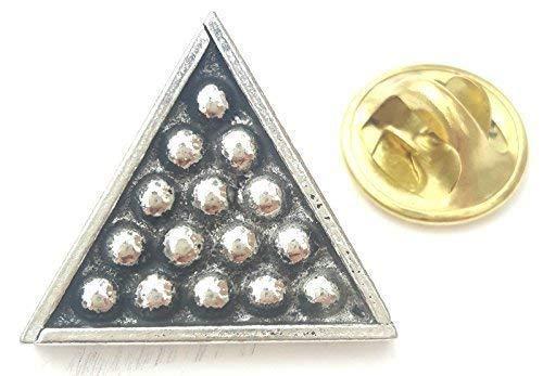 Biliardo Pool Snooker Sfere Artigianale da Inglese Distintivo Spilla Peltro + 59mm Bottone Distintivo + Borsa Regalo