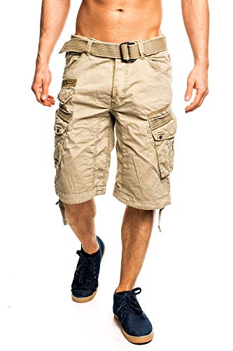 2D5 Geographical Norway People Herren Bermuda Shorts Kurze Hose Beige M