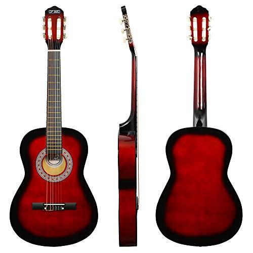 3rd Avenue STX20ARBPK Paquete de guitarra clásica de tamaño completo, Rojo (Redburst), Paquete