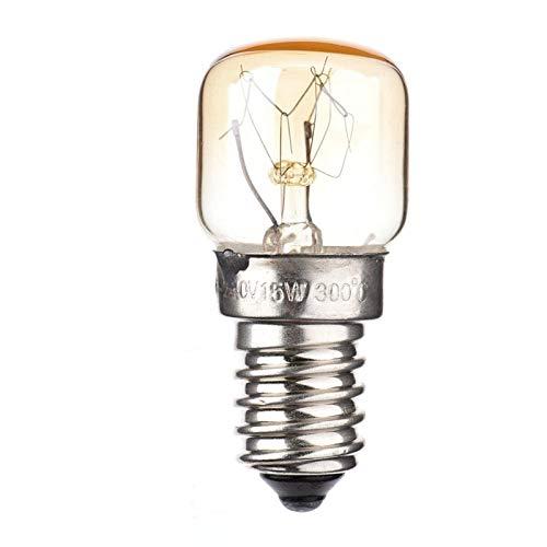 mementoy 2 Stück Backofenlampe Ofen Glühbirne E14 15W / 25W Wolframlampe, Bis Zu 300 Grad