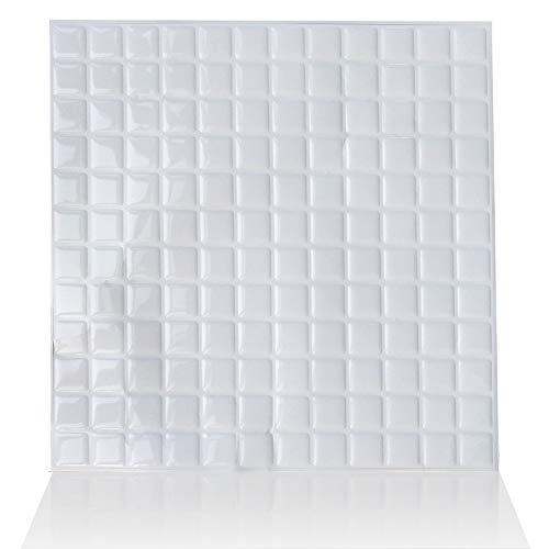 ZYCH Tile 10 Laminas Vinilo Azulejo Adhesivo Cenefa Adhesiva 3D Autoadhesivo Pegatina Pared Baldosa para Sala de Estar Dormitorio Cocina Cuarto de Baño Decoración de la Pared 25x25cm Pegatina