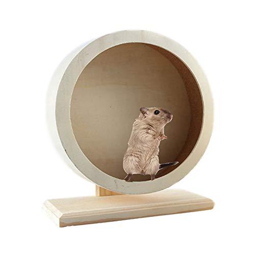 JEMPET Hamster Silent Running Exercise Wheels,Made of Wood (M)