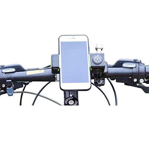 SITAKE 1Pc verstelbare fiets-telefoonhouder met kompas - fietshouder voor MTB racefiets, motorfiets, navigatie (groen)