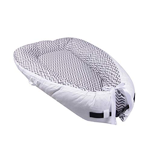 Why Choose Baby Lounger, Baby Nest and Baby Bassinet, Portable 100% Organic Soft Cotton Breathable C...