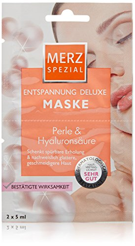 Merz Spezial Entspannung Deluxe Maske Perle & Hyaluronsäure, 15er Pack (15 x 10 ml)
