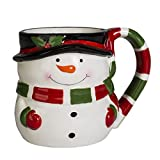 Transpac Imports, Inc. Snowman Holiday 12 Ounce Ceramic Dolomite Christmas Coffee Mug, White