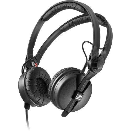 Sennheiser HD 25 PLUS On-ear closed back Monitor DJ Headphones + Slappa HardBody PRO Headphone Case