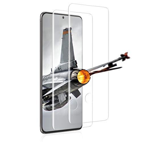 Protector de pantalla de cristal templado para Samsung Galaxy S20 Plus, [2 unidades] [transparente] antiarañazos, antiaceite, antiburbujas, antipolvo.