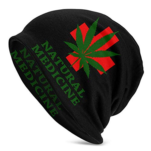 XCNGG Nature Weed Mujeres Hombres Elegante Beanie Hat Soft Stretch Knit Slouchy Skull Cap