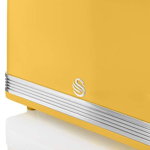 Swan 2 Slice Retro Toaster - Yellow