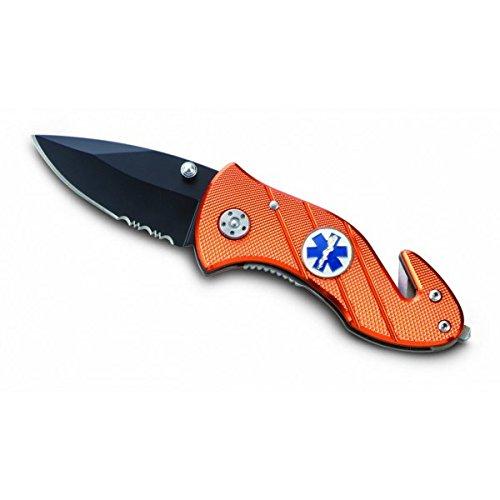 Ausonia 26532 - Navaja Cuchillo de bolsillo color naranja Cm 15, hoja 6,5 cm