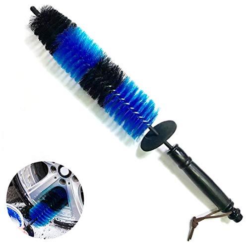 Coche de la rueda de cepillo Llanta Neumático Detalle del cepillo largo de Neumáticos cepillo de alambre de acero del borde de cepillo herramienta de limpieza de neumáticos para coches Accesorios Azu