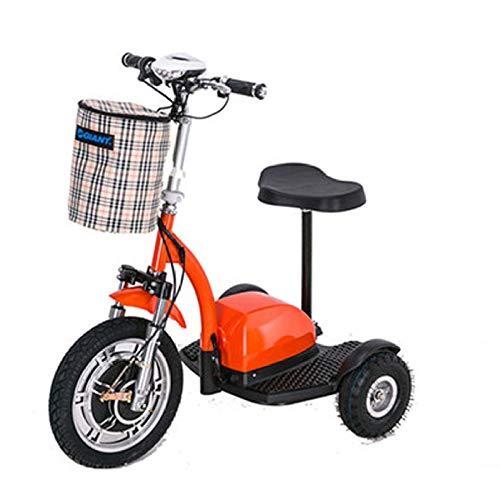 ZYLZL Bicicleta Eléctrica Scooter Scooter de Edad Avanzada Mini Triciclo Adulto Batería de Litio 48V Plegable Medios de Transporte/A / 105x73x130 cm