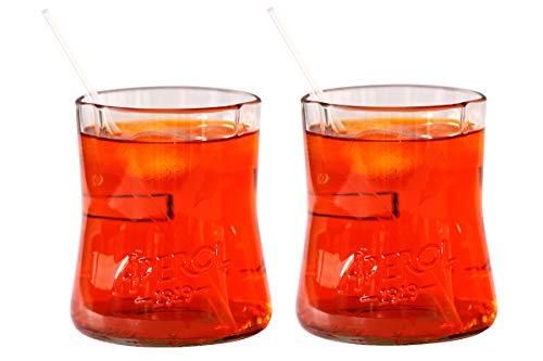 Set zweier Spritz Gläser aus Aperol Flaschen
