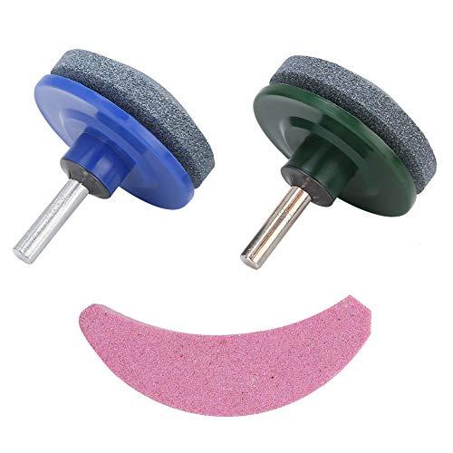 Raguso 3Pcs/Set Blade Sharpener Rasenmäher Schleifwerkzeug Schärfwerkzeug aus Emery-Material für Bohrer Grasschneider und Sicheln