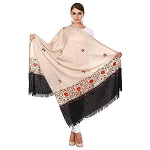 Pashtush Womens Kashmiri Wool Shawl with 100% Hand Embroidery, Aari Silken thread work on fine wool 4 41aNodZuMrL. SL500 . SS300