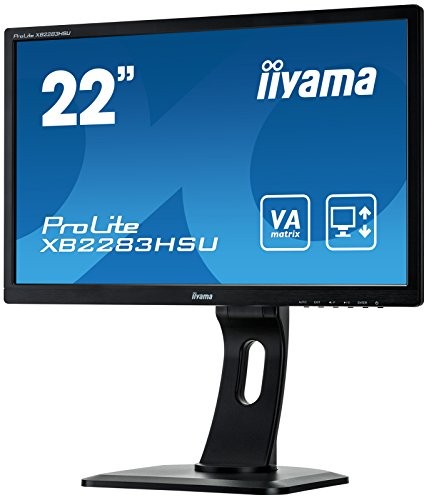 Iiyama iiyama ProLite XB2283HSU-B1DP 54,7cm (22 Zoll) VA LED-Monitor Full-HD (VGA, DVI, DisplayPort, USB2.0, Höhenverstellung, Pivot) schwarz
