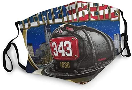 343 Firefighters Helmet Memorial 9 11 01 Never Forgetoutdoor Mask Protective 5 Layer Activated product image