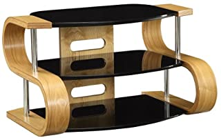 Jual Florence Curved Oak and glass TV Stand for up to 37 (B009SJE2J4) | Amazon price tracker / tracking, Amazon price history charts, Amazon price watches, Amazon price drop alerts
