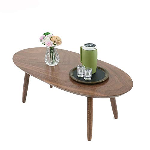 BHJqsy Tavolino tavolino ovale, 20 x 10 x 7.5cm, effetto legno massiccio Nest Tables (Color : Walnut color)