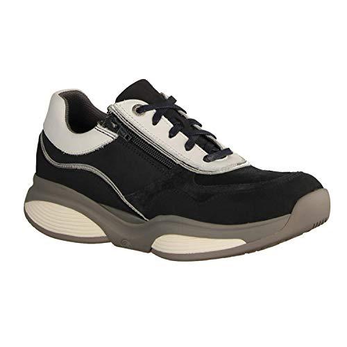 XSENSIBLE SWX11 Navy/White (blauw) - veterschoen - damesschoenen comfortabele veterschoenen, blauw, leer